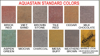 Aquastain Standard Colors