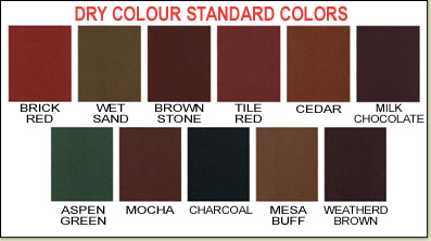 Dry Colour Standard Colors