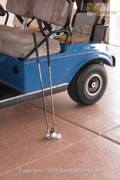 Golf Cart on Epoxy
