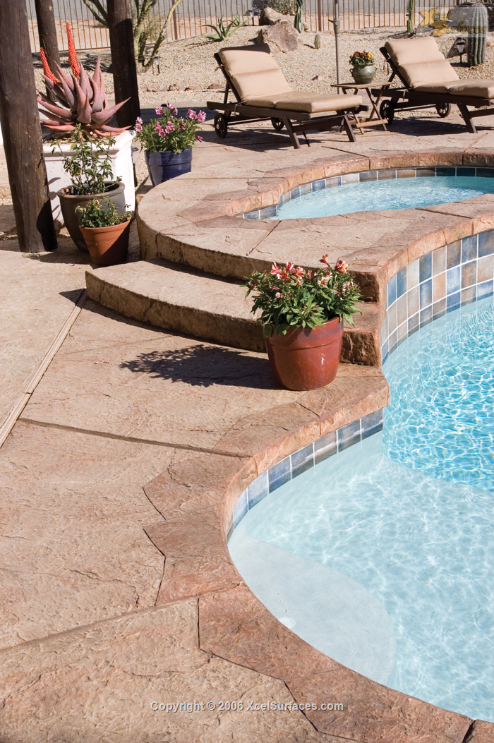 Stamped Pool Area